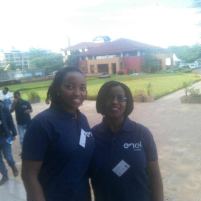 Mawazo Scholars Susan Gichuna and Judith Koskey at the OAP training hosted at Strathmore University, Nairobi