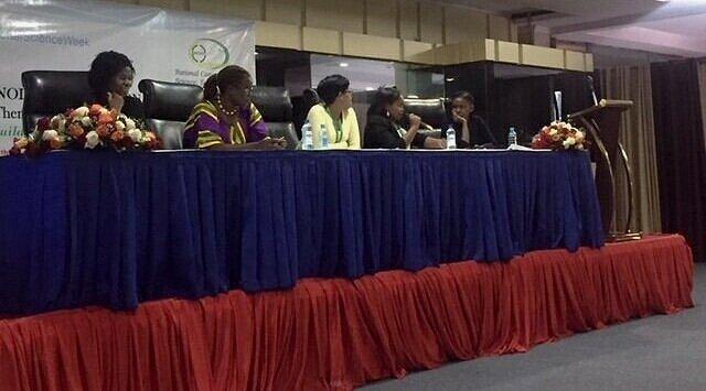 From (L) to (R): Prof. Abukutsa-Onyango, Dr. Njuki, Dr. Gitau, Ms. Mosomtai, Dr. Mutiso