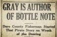 Newspaper headline of September 1921, via the  State Archives of North Carolina