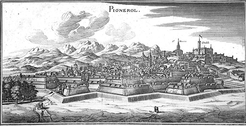 Pignerol, 1661, via  Wikimedia Commons