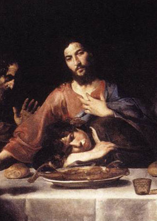 Jesus and John at the Last Supper, by Valentin de Boulogne c. 17th century, via  Wikimedia Commons
