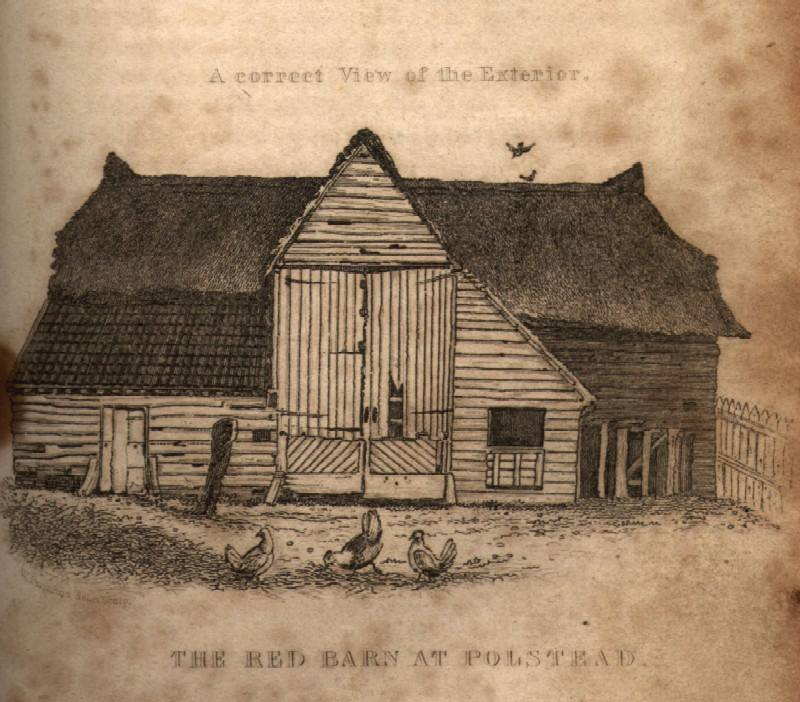 The Red Barn, scene of the crime, via  Wikimedia Commons