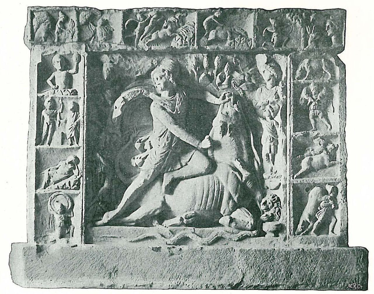 Relief depicting Mithras slaying a bull, via  Wikimedia Commons