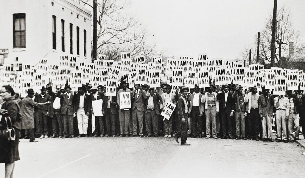 """I am a Man (Sanitation Workers Strike, Memphis, 1968)"", by Ernest Withers, image courtesy  St. Lawrence University Art Gallery , licensed via Creative Commons   (CC BY-NC-ND 2.0)"
