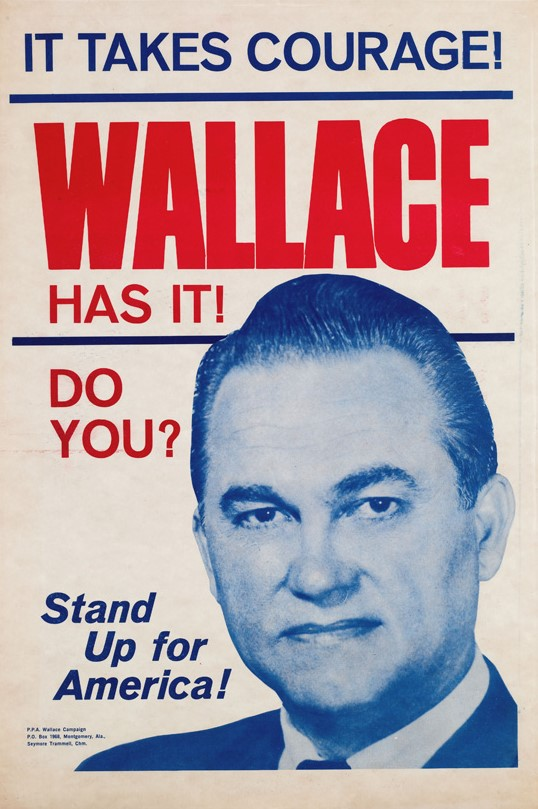 Wallace campaign poster, via  Wikimedia Commons
