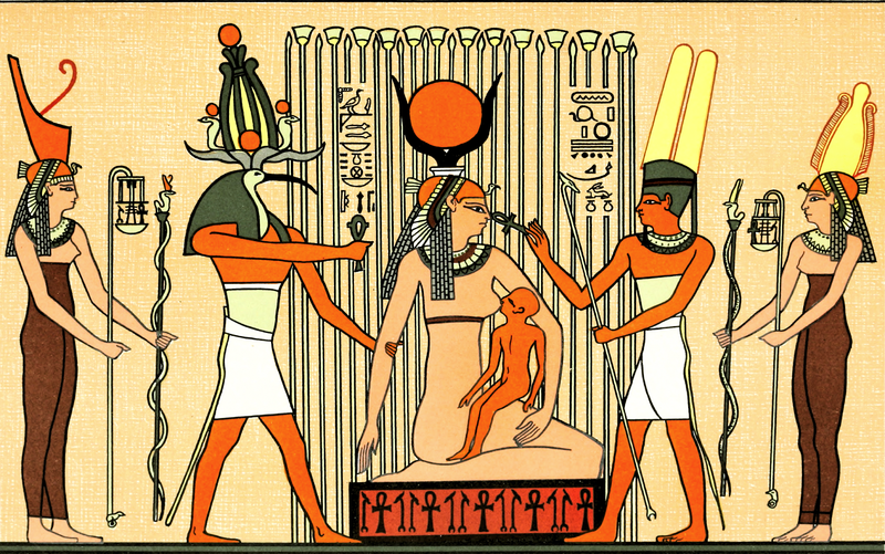 Isis suckling Horus, via  Wikimedia Commons