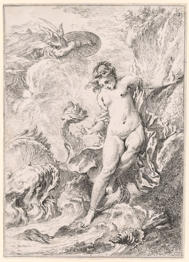 Andromeda and the sea monster, via  Wikimedia Commons