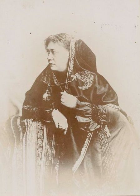 Photographic portrait of Madame Blavatsky, via  Wikimedia Commons