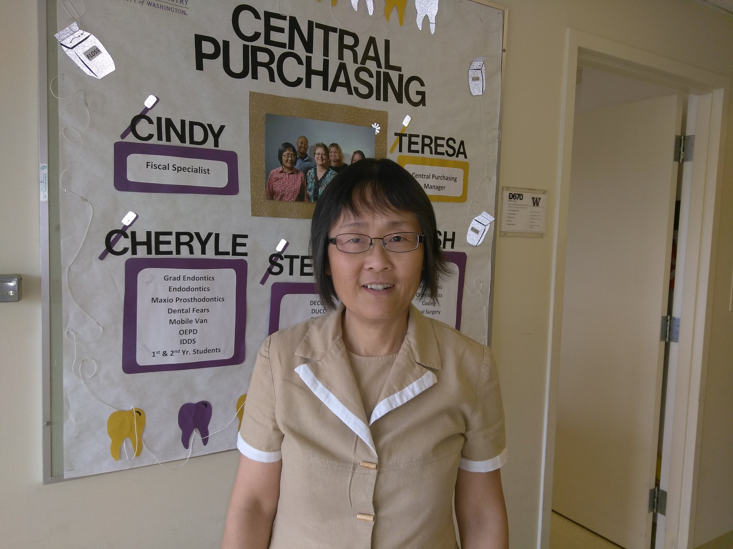 "Cindy Li - Fiscal Specialist 2Dental Clinic""I commute by bus over an hour each way from Bothell to get to work. I would like to buy a house near UW, but I can't afford to buy one."""