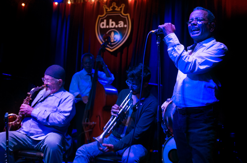 John Boutté sings his popular song 'The Treme Song' at a bar on Frenchman Street in New Orleans.