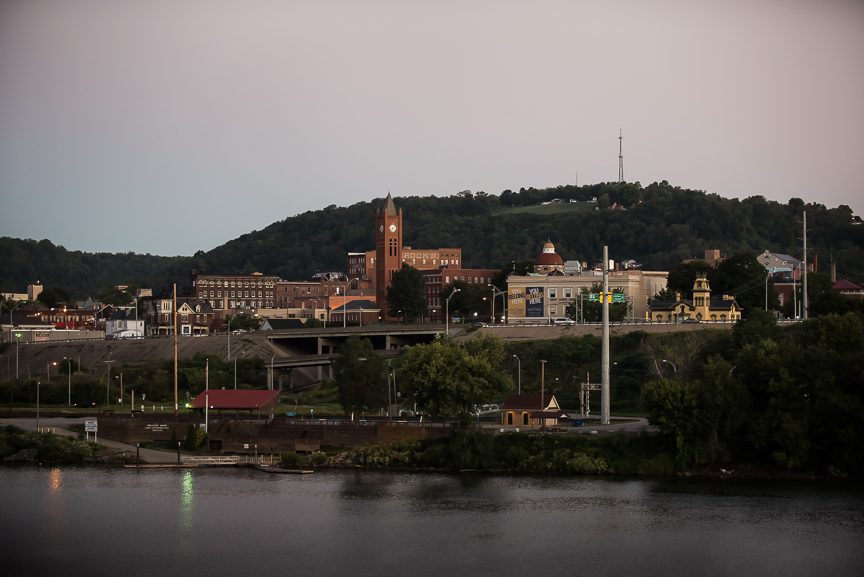 East Liverpool, Ohio sits on the edge of the Ohio River on Thursday, Sept. 15, 2016.  The town, once a bustling steel and pottery town, now has a population of about 11,000 people and like many towns across the United States is facing a growing opiate problem.