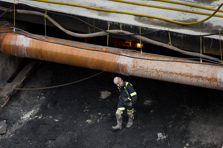 A coal miner works at Corsa Coal's Acosta Deep Mine on June 8, 2017 in Friedens, Pennsylvania. Justin Merriman /Getty Images