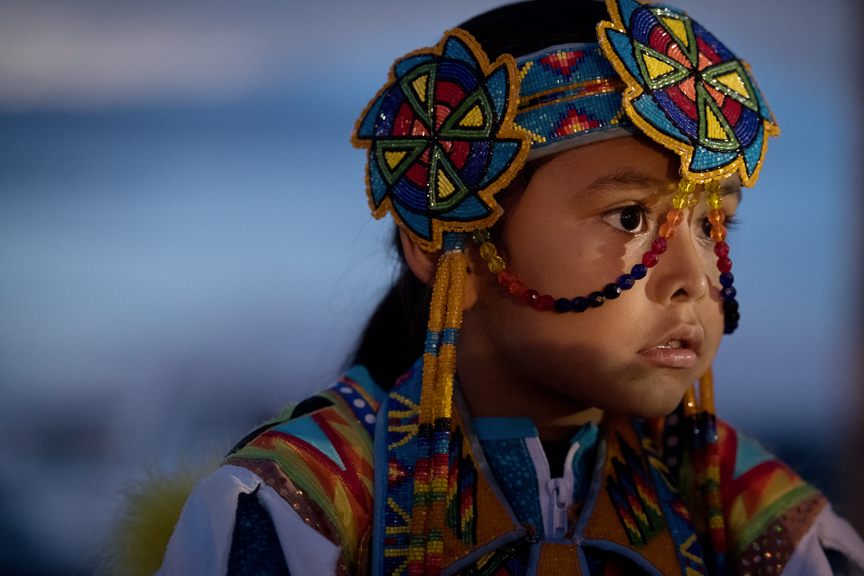 Children participate in a Pow Wow at the Shiprock Northern Navajo Nation Fair on October 5, 2018 in Shiprock, New Mexico.