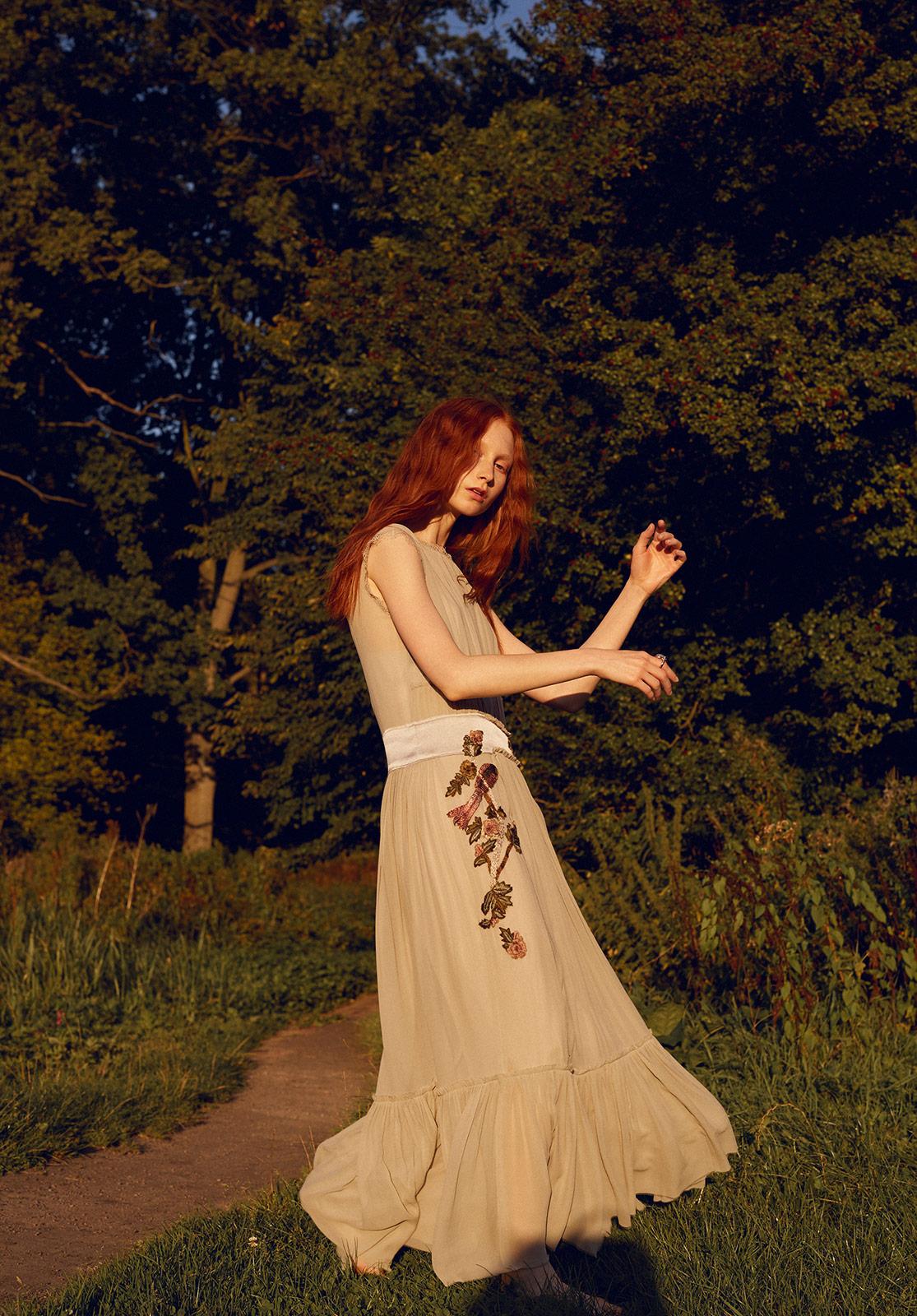 Dress: Alberta Ferretti  Ring: Colleen Rosenblatt