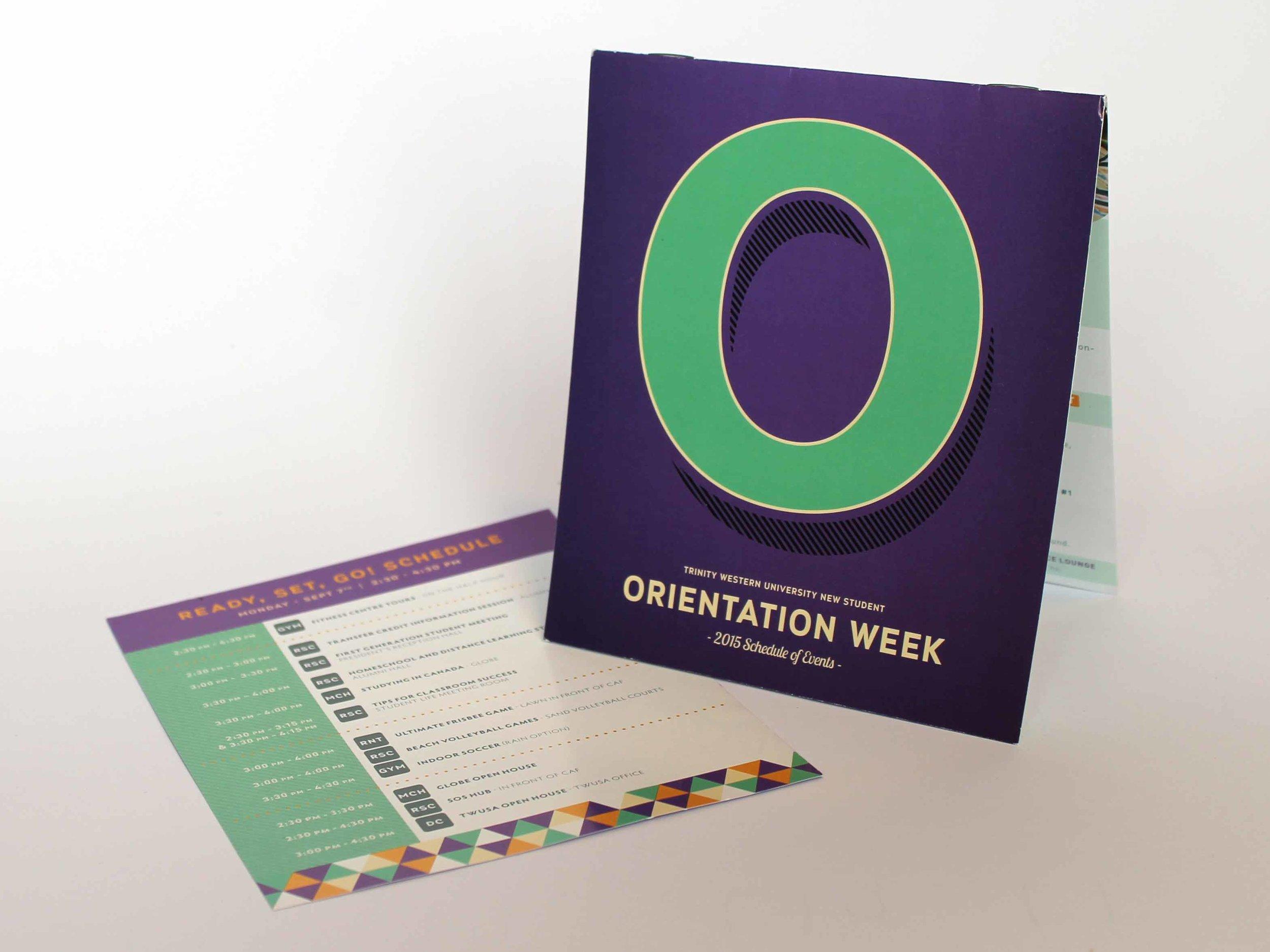 Trinity Western University  Orientation Week Schedule