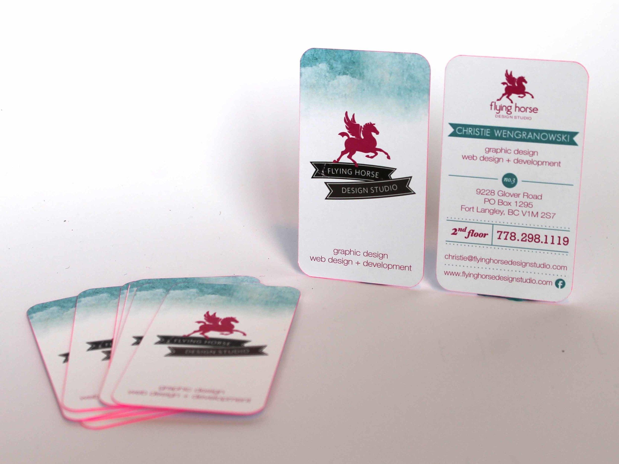 Flying Horse Design Studio  Business Card