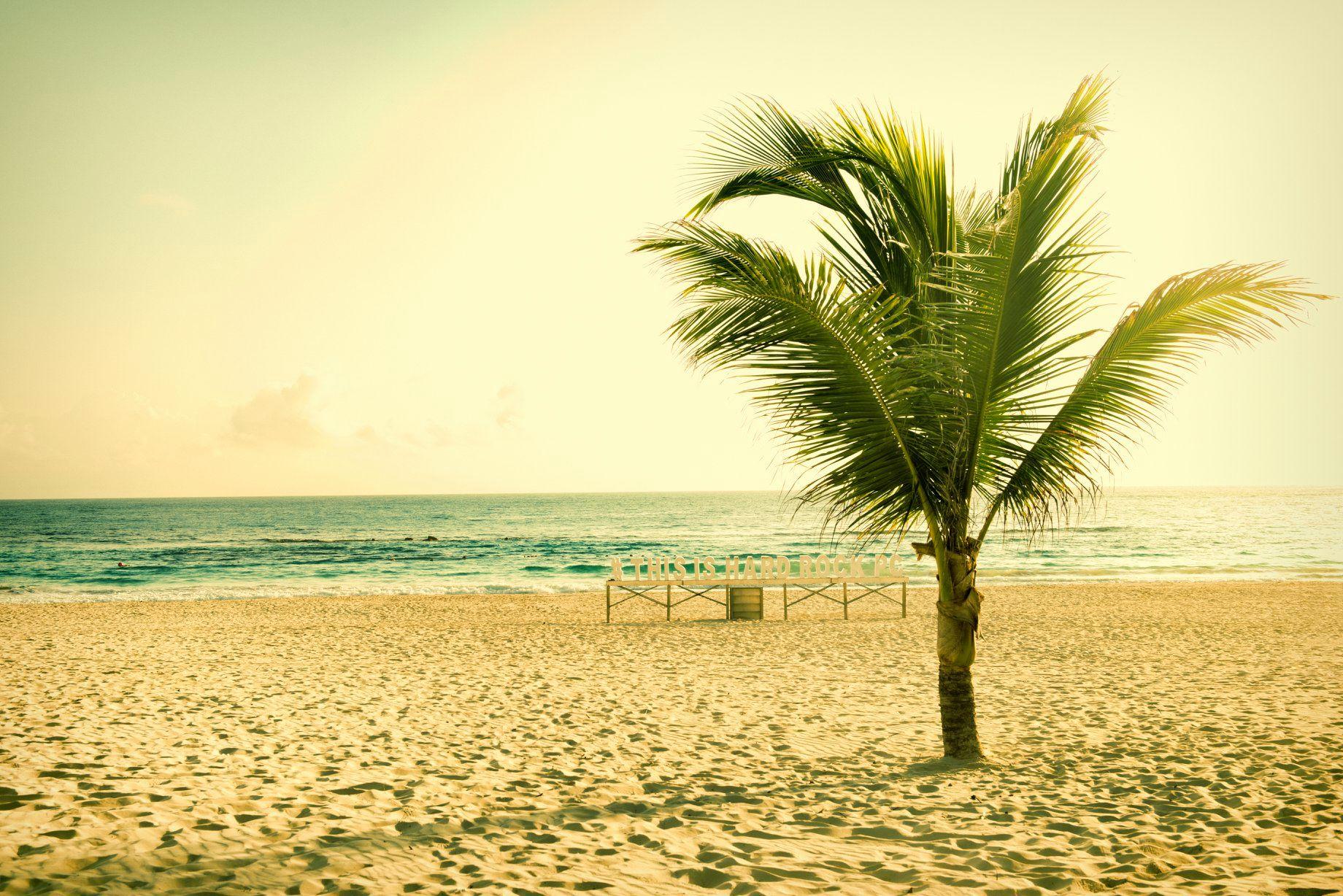 Hard Rock Resort beach Punta Cana, Dominican Republic.