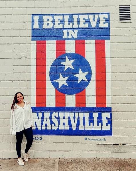We believe in Nashville too! ❤️ Thanks for the fun shot, @travelsofsarahfay!