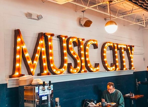 It's Music City, baby! 🎤 (pc:@jordanmeyersphotos)