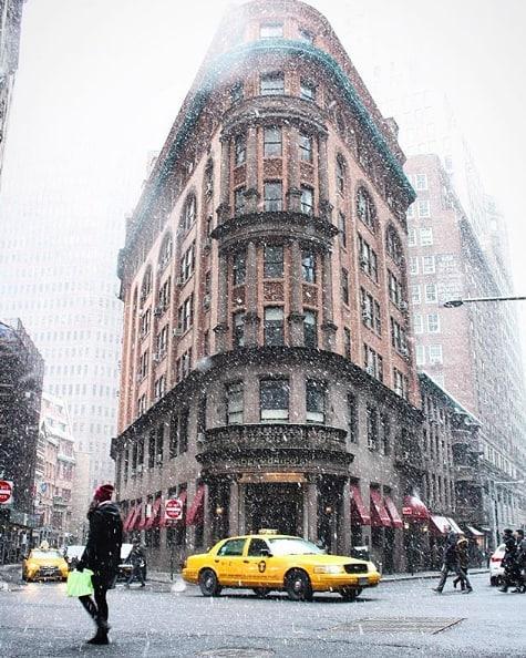 Typical NYC winter. ❄️ (pc:@dara.fox)