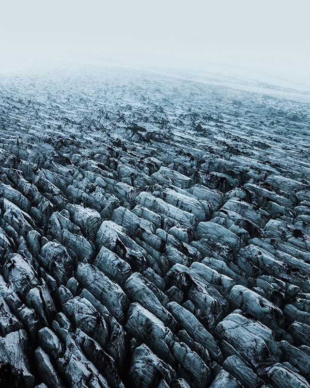 Towers of ice and near endless repetition in form.  One of the many wonders of Mýrdalsjökull.  #iceland
