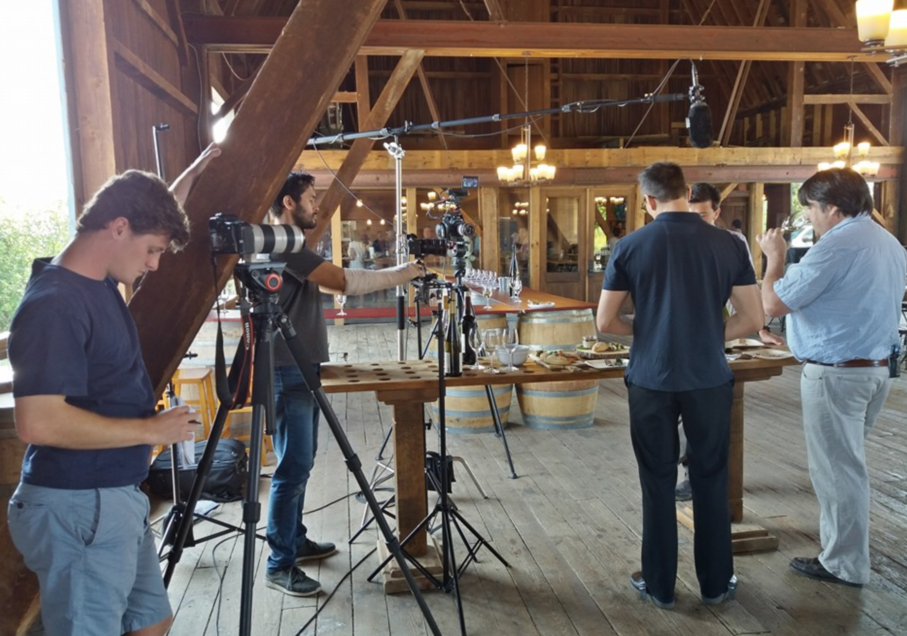 On location at Ravines Wine Cellars.