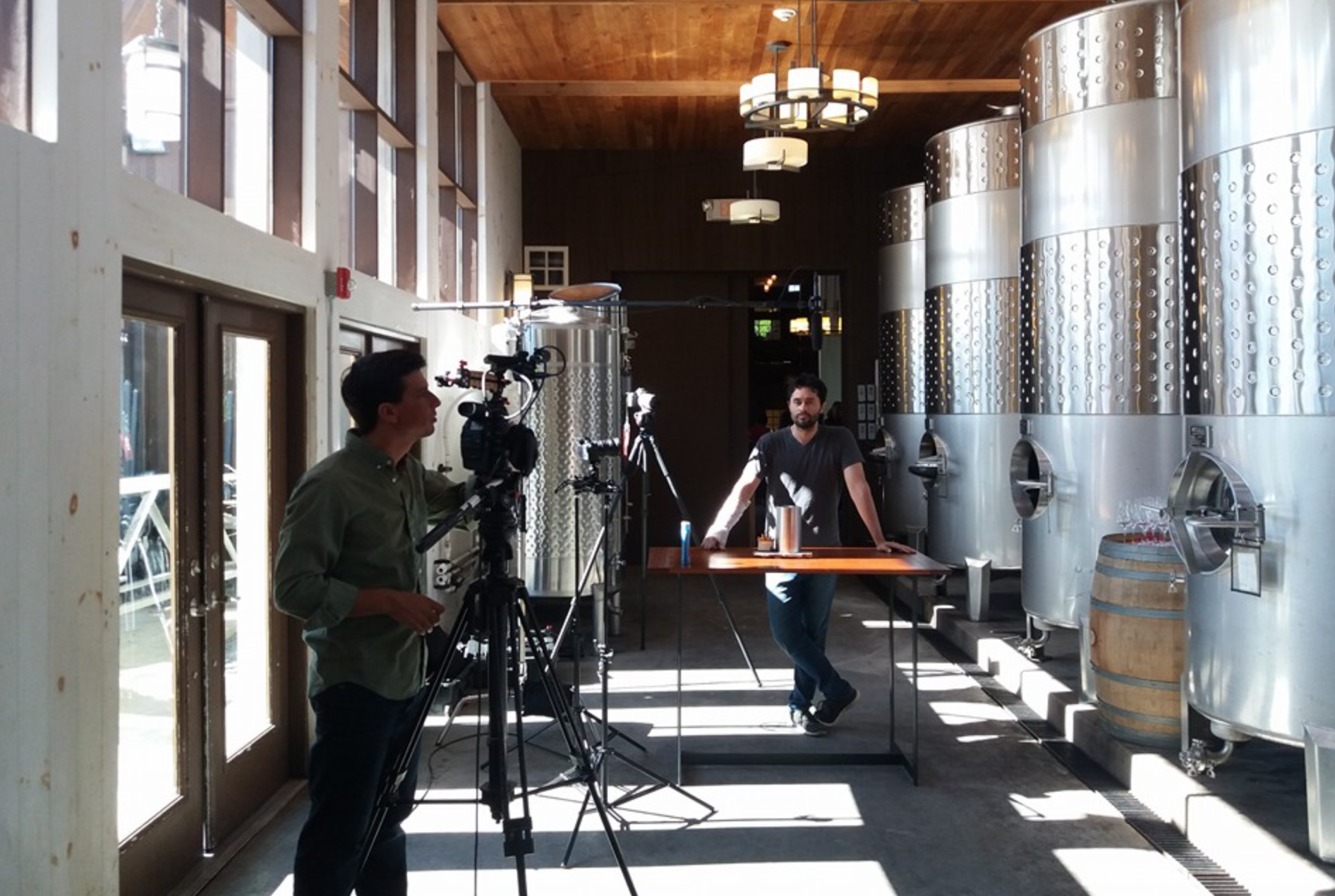 On location at Hermann J. Wiemer Vineyards.