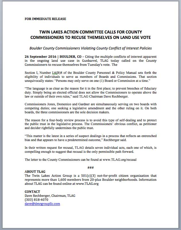 Click the image above or this link to download a PDF copy of the Recusal Press Release.