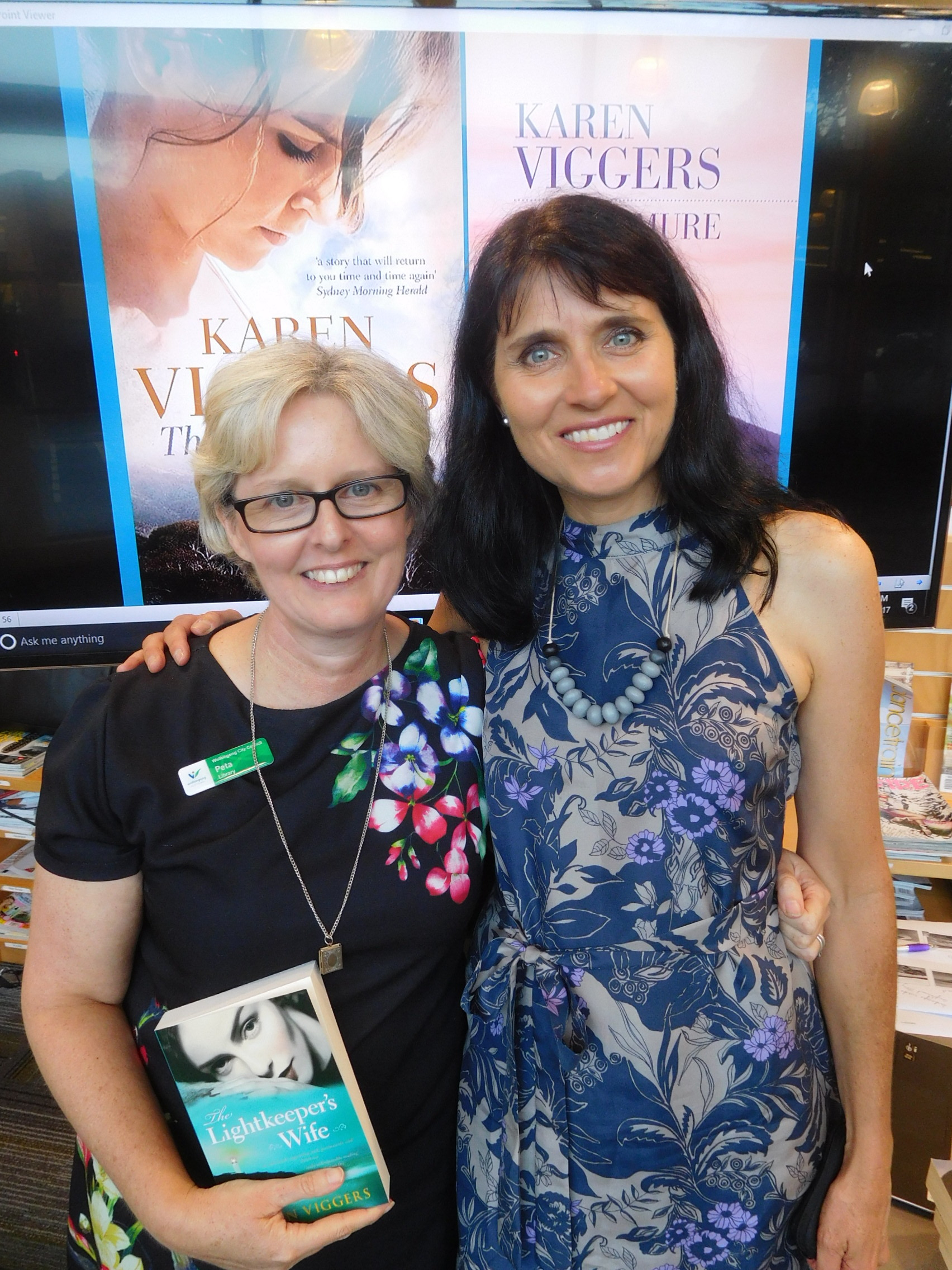 With lovely librarian Peta Moss