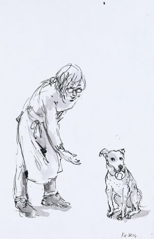 Won't Scenes from a Dog's Life, 2016, by Karen Headlam. Photo: National Portrait Gallery