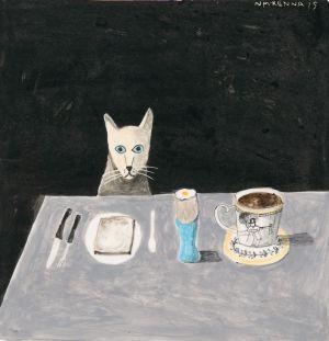 Cat at a Table, 2013, Noel McKenna. Photo:PhotoStudio