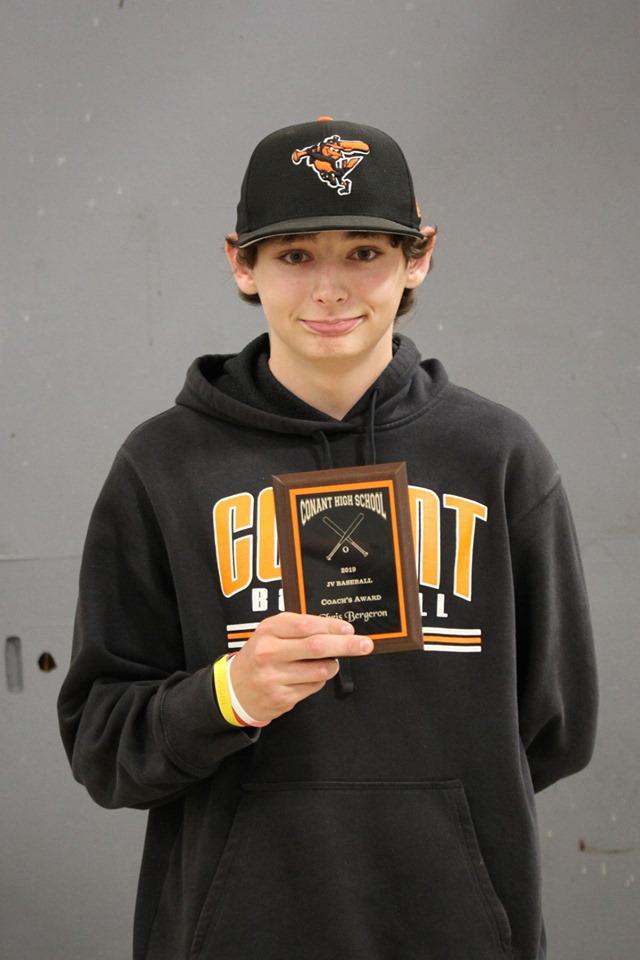 Chris Bergeron - Coach's Award, JV Baseball