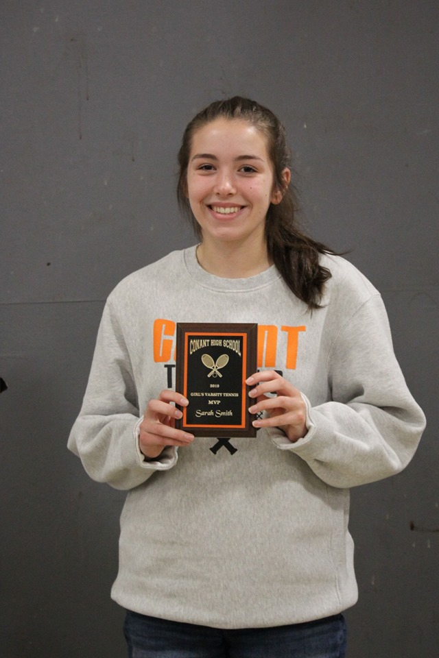 Sarah Smith - MVP, Girls Varsity Tennis