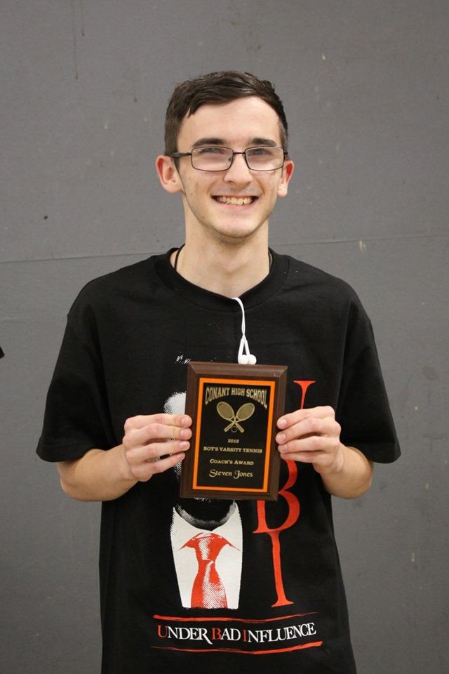 Steven Jones - Coach's Award, Boys Varsity Tennis