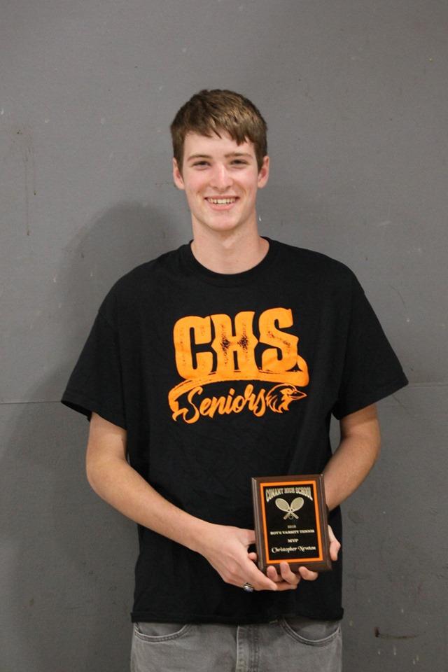 Christopher Newton - MVP, Boys Varsity Tennis