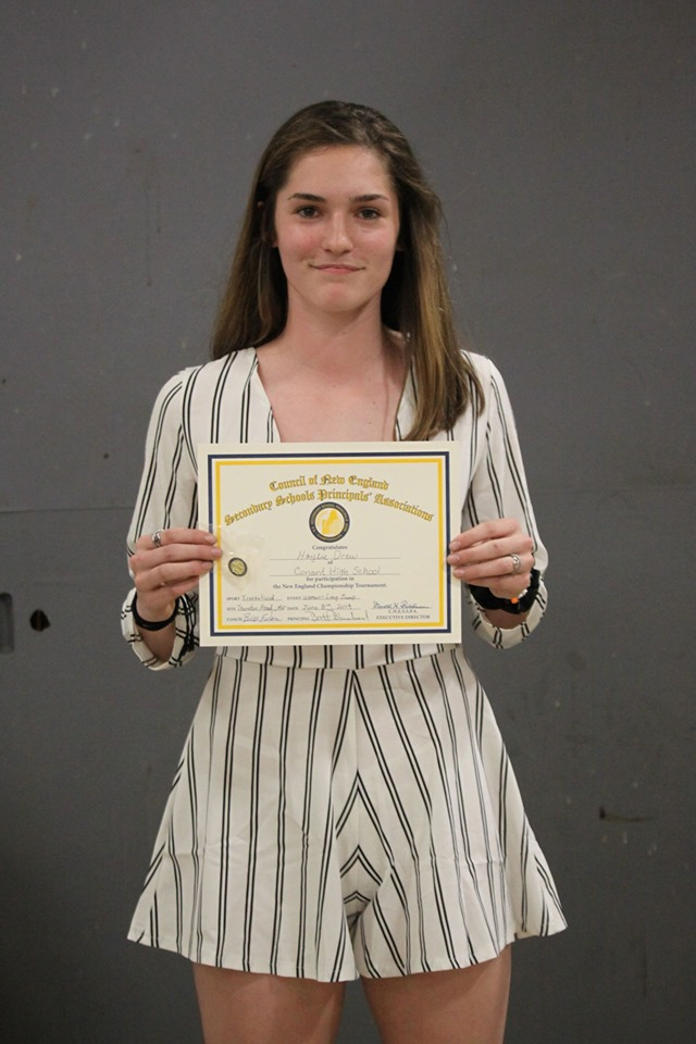 Haylie Drew - Most Outstanding Female Athlete, Varsity Track and Field