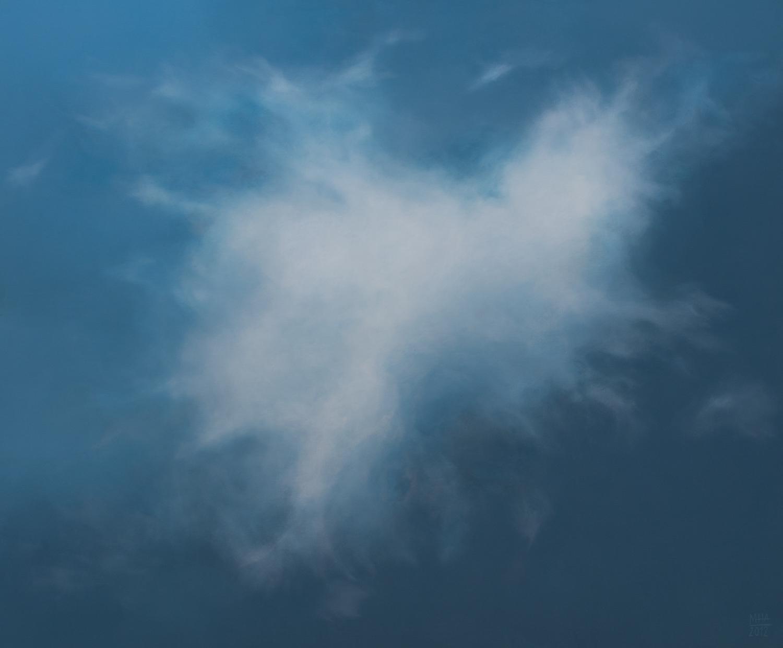 Wolkenportrait 3 , 2012,Acryl auf Leinwand,100x120 cm
