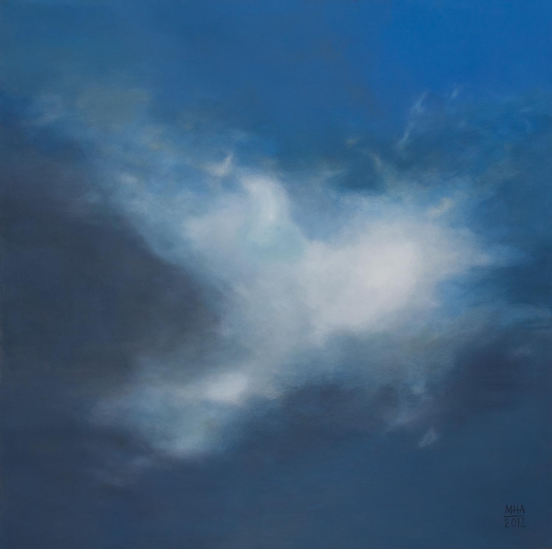 Wolkenportrait 4 , 2012,Acryl auf Leinwand,80x80 cm