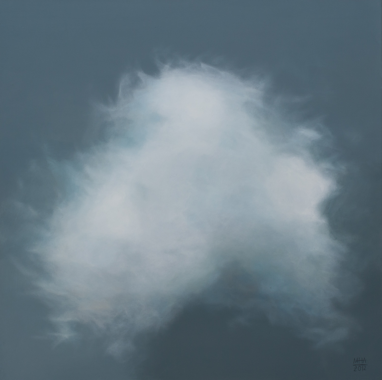 Wolkenportrait 6 , 2012,Acryl auf Leinwand,80x80 cm