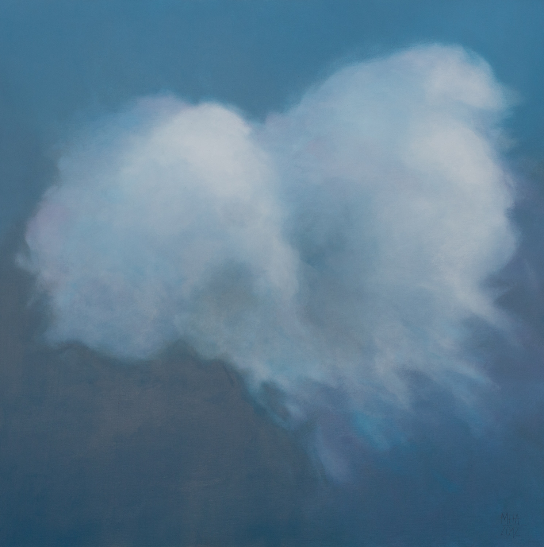 Wolkenportrait 9 , 2012,Acryl auf Leinwand,80x80 cm