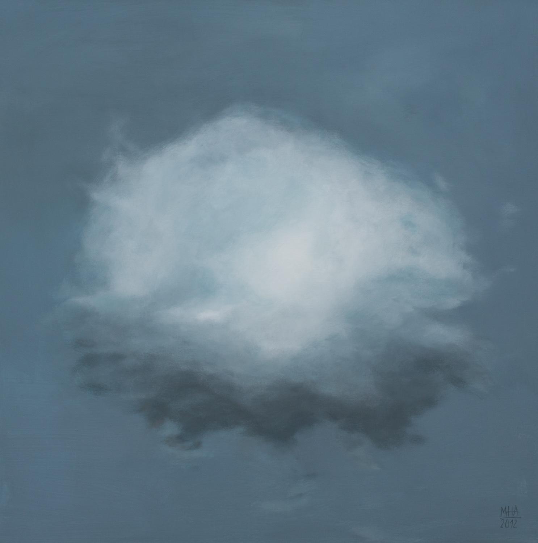 Wolkenportrait 10 , 2012,Acryl auf Leinwand,80x80 cm