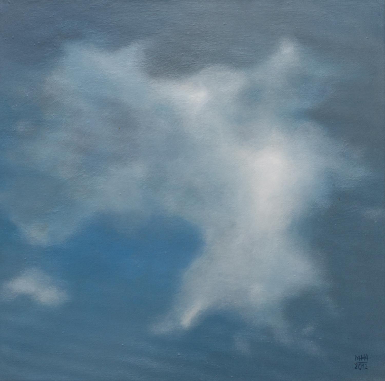 Wolkenportrait 17 , 2012,Acryl auf Leinwand,40x40 cm