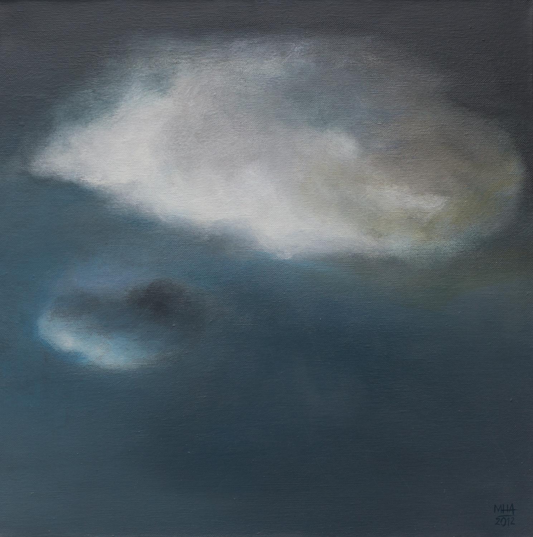 Wolkenportrait 14 , 2012,Acryl auf Leinwand,40x40 cm