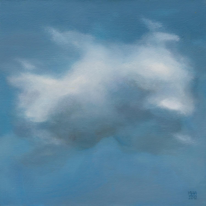 Wolkenportrait 18 , 2012,Acryl auf Leinwand,40x40 cm