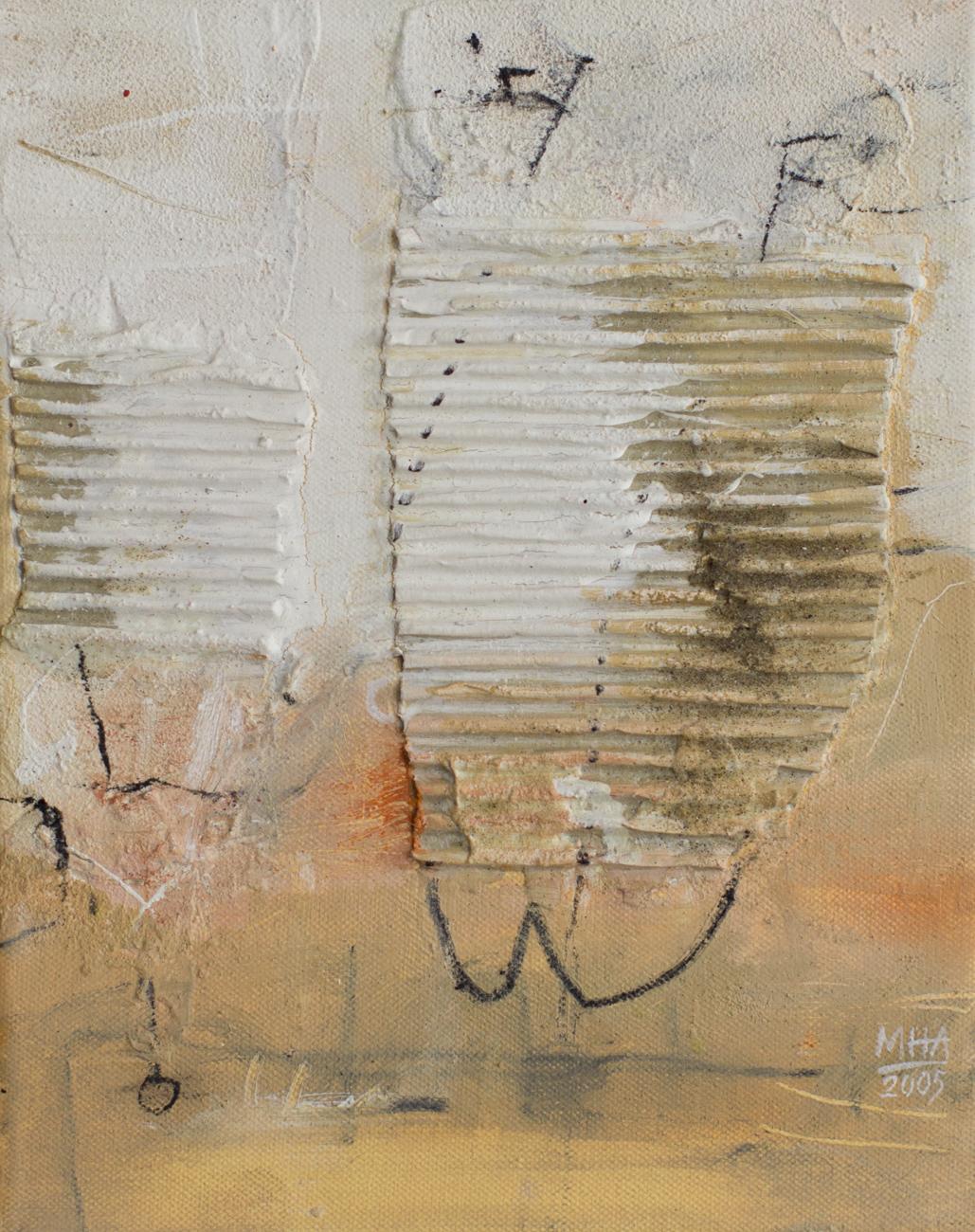 Spaß ,2005,Collage mit Acryl auf Leinwand, 24x30 cm
