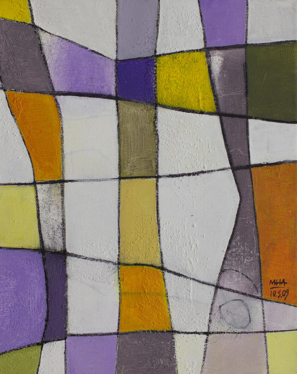 Fantasie in Linien 5 , 2009,Acryl auf Leinwand, 24x30 cm