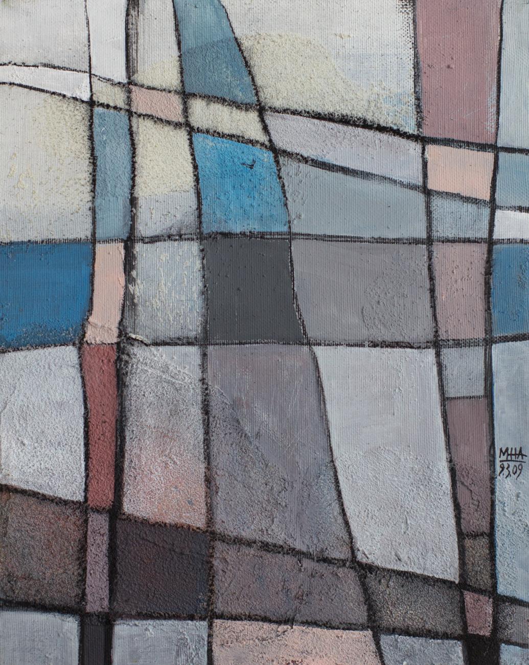 Fantasie in Linien 4 , 2009,Acryl auf Leinwand, 24x30 cm
