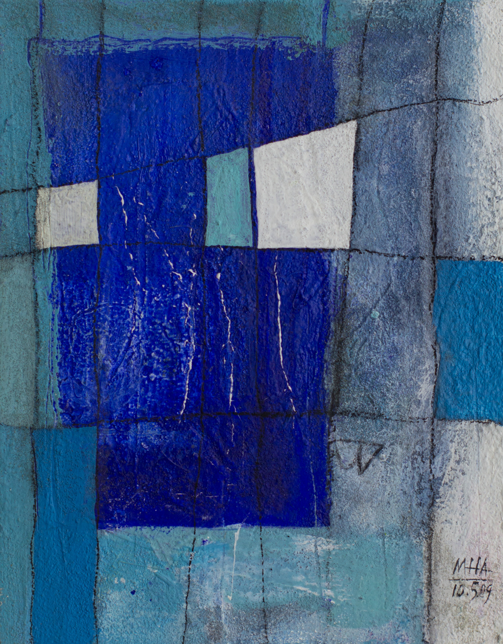 Fantasie in Linien 16 , 2009,Acryl auf Leinwand, 24x30 cm