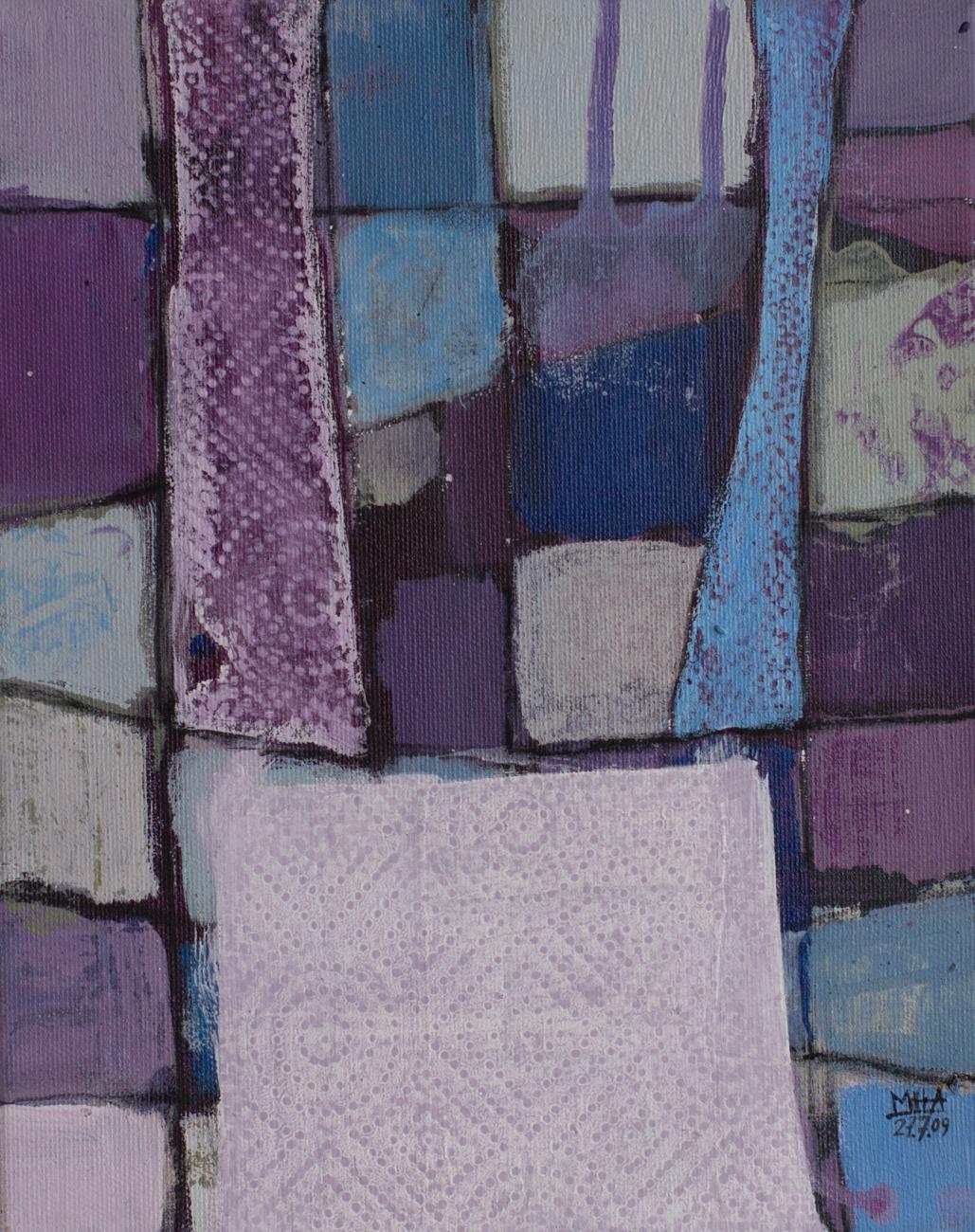 Fantasie in Linien 19 , 2009,Acryl auf Leinwand, 24x30 cm