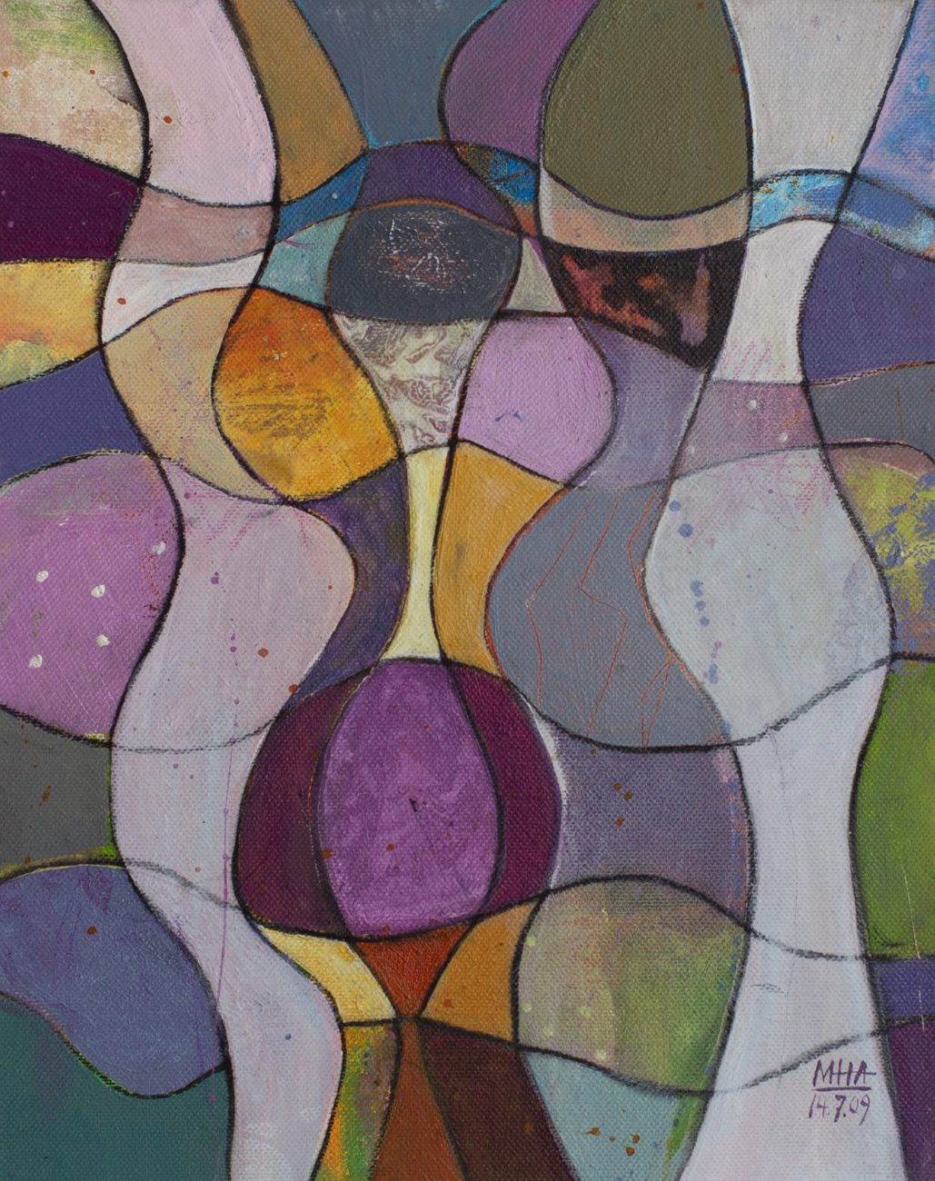 Fantasie in Linien 17 , 2009,Acryl auf Leinwand, 24x30 cm